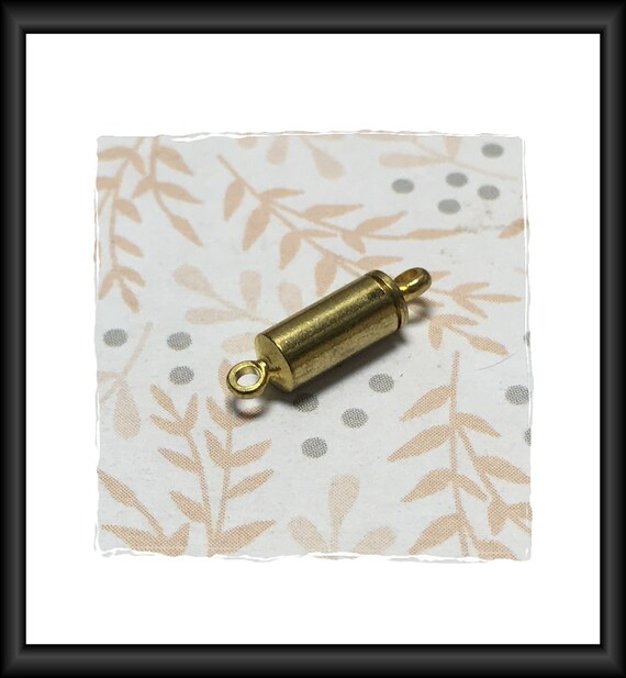 Gold Tube 10 mm Magnetic Clasp