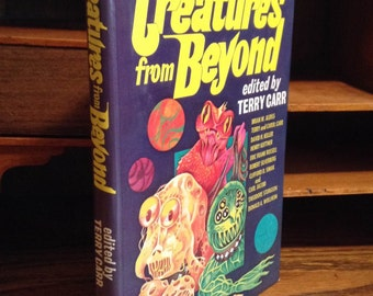 Creatures From Beyond Vintage sci-fi anthology book - Terri Carr, Vintage Book, Science Fiction Book, Nerd Gift, Collectible Book