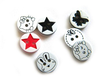 10 Assorted  Buttons