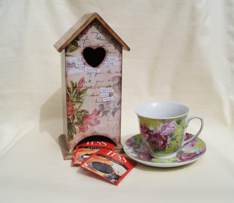 Aus Holz Teebeutel Halter Erinnerungen Tee Haus Feld hölzernen
