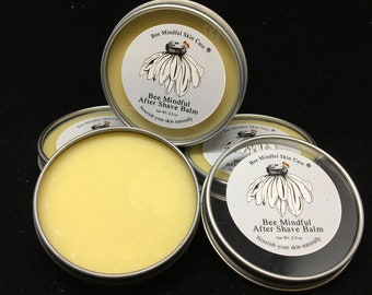 Bee Mindful After Shave Balm, After Shave Balm, Natural After Shave Balm, Sandalwood fter Shave Balm, Moisturizing After Shave Balm,