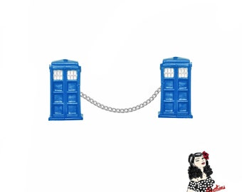 Dr Who TARDIS Sweater Guard Clips - Comic Series