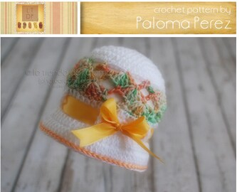 INSTANT DOWNLOAD - Baby Swirl Shelly Cloche - Crochet Baby Hat Pattern - Baby hat crochet pattern