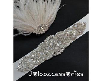 Crystal pearl wedding bridal  sash belt flower girl bridesmaid wedding beaded sash belt thin wedding gown sash belt skinny sash ivory blush
