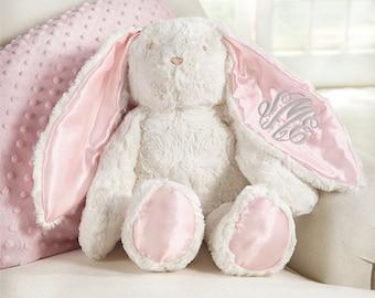 Monogrammed Easter Bunny ~ Plush monogrammed bunny ~ Mud pie Easter