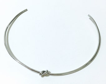 Knot choker necklace girl gift silver gold