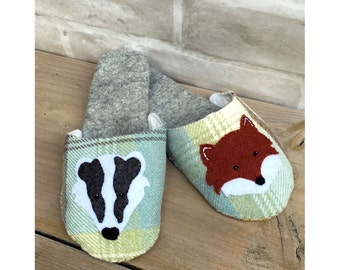 Forest Friends Slippers sewing pattern instant download pdf file