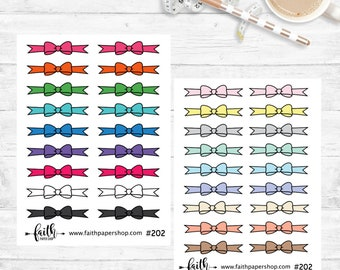 Planner Stickers, Cute Bow Border Stickers, Happy Planner, Mini Happy Planner, Hand Drawn Doodle Stickers, TN, Life Planner. #202