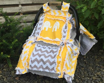 Carseat Canopy Pattern - Easy Peasy Rag Quilt Pattern- Car Seat Cover Pattern- Baby Quilt Pattern- Crib Bedding Pattern- Baby Sewing Pattern