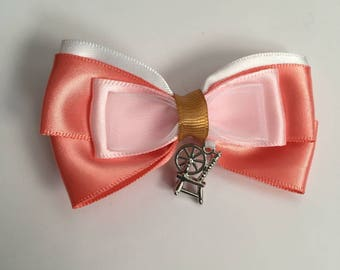 Disney Inspired Sleeping Beauty Aurora Bow, child's hair accessory, Fairytale, Storybook, Child's Gift