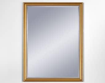 Miroir ANKARA GOLD SMALL Traditionnel Classique Rectangulaire Dorée 54x75 cm