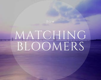 Bow Matching Bloomers