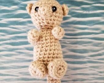 Otter, amigurumi, stuffed tiny otter