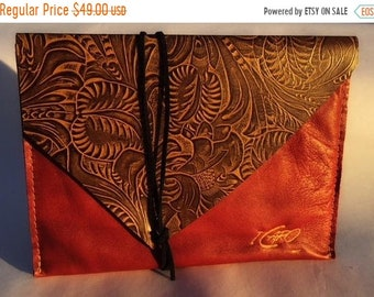 Sale Leather Wrap Clutch