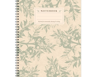Notebook A4 - Branches Pattern