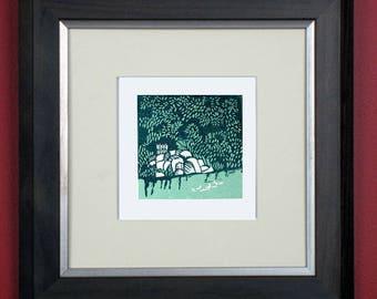St Stephen's Green Dublin limited edition linoprint