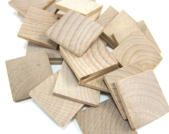 """1"""" Unfinished Wooden Square Tiles (25mm)"""