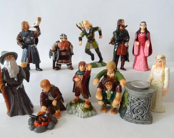 Lord of The Rings 10 figures miniatures Cake Topper set 1