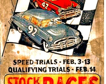 1954 Daytona Beach Stock Car Racing