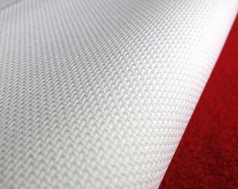 AIDA 20 Count Fabric. White Cross stitch fabric. Permin embroidery cotton. Made in Copenhagen.