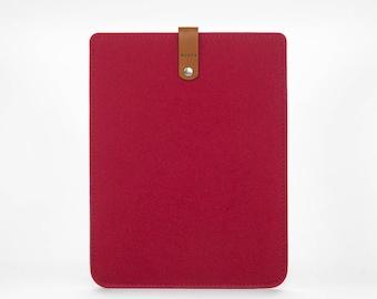 iPad Pro Sleeve - iPad Pro Case - iPad 12.9 Cover - iPad Pro Leather - Felt Case iPad