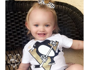 Baby Girls Pittsburgh Penguins Onesie, Pittsburgh Pens, Penguins Bodysuit, Pittsburgh Proud, Pittsburgh Onesie, Let's Go Pens Shirt