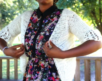 The Eesome Cardigan Crochet Pattern. Instant Download!