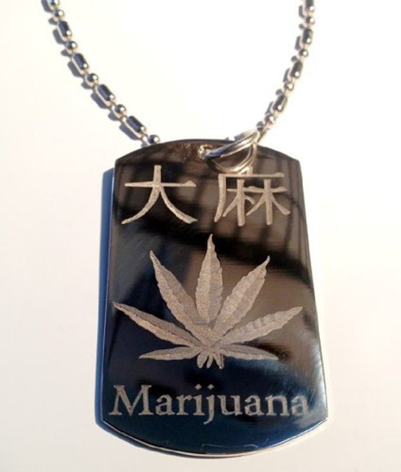Kanji Japanese Character Weed Marijuana Pot Leaf Ganja Logo