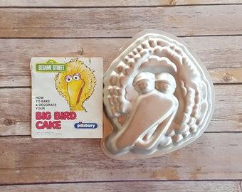 Sesame Street Birthday Big Bird Cake Pan Kids Cake Mold Big Bird Party Big Bird Cake Toddler Birthday Sesame Street Theme Big Bird Gift