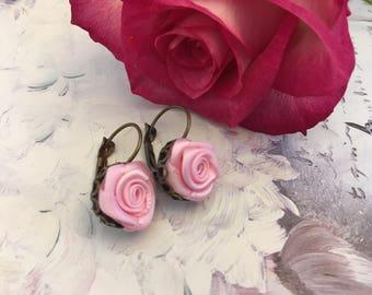 small pink Stud Earrings