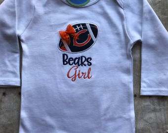 Chicago Bears Girl Baby Shirt | bodysuit