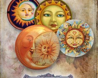 10 Sun and Moon Face Circles
