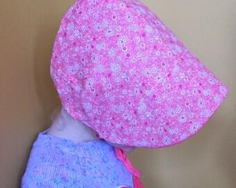 Custom Summer Brimmed Bonnet - Sunbonnet - Girl - Baby - Toddler