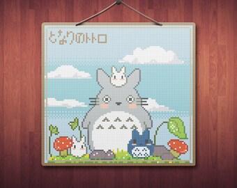 Totoro & Co. - Anime Cross Stitch Pattern PDF File