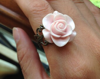 pink flower ring Christmas gifts