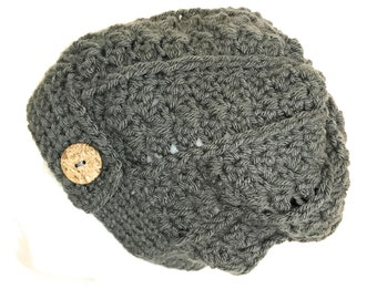 Crocheted Rustic Slouch Hat