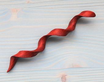 Screw hair stick wood hair accessories curly Q stick for hair spiralstäbe spiral wood hair pin twisted spiral stick for hair bun helix fork