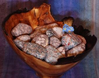 1 LEOPARDSKIN JASPER (Pink) Tumbled - Leopardskin Jasper Crystal, Leopardskin Jasper Stone, Tumbled Leopardskin Jasper