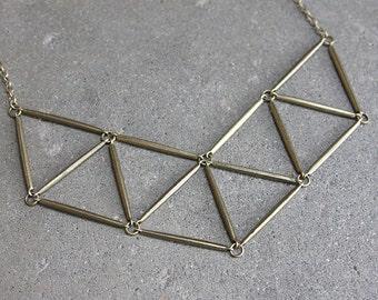 Geometric Statement Necklace