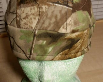 Camoflauge Skull Cap Helmet Lined Du Rag hat chemo cap surgical hat motorcycle biker head wrap Chef Hat Do Rag Camo