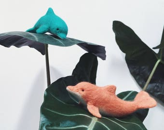 Felted Dolphin - Faux Taxidermy Art Doll - Needle Felted Wool - Soft Sculpture