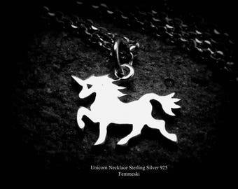 Unicorn Necklace - 925 Sterling Silver Tiny Unicorn Charm - Unicorn Jewelry - Unicorn Lover Gift - Girls Unicorn Pendant, Unicorn Party
