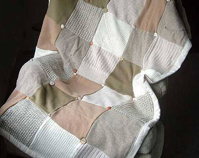"""My """"Naturalist"""" Wool Sweater Quilt — I can make one similar for you!"""