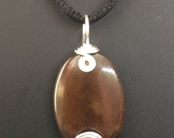 Brown Jade Pendant