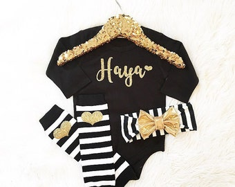 Baby girl clothes, newborn coming home, personalized bodysuit, baby shower gift
