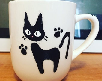 Kiki's Delivery Service Jiji Inspired Mug