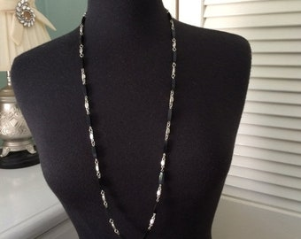 Birthday Sale Black and silver link necklace