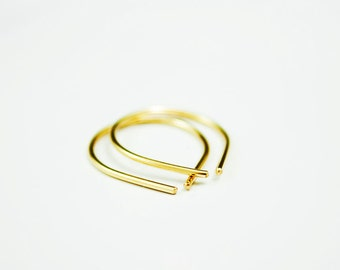 Recycled Gold Earring - 14k Gold Hoop Earrings - Simple Everyday Earring - Small Gold Earring