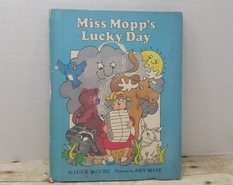 Miss Mopps Lucky Day, 1981, Leslie McGuire, Jody Silver, vintage kids book
