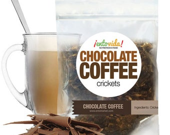 Edible Insects   Chocolate Coffee Crickets